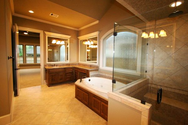 Luxury Bathroom With Jacuzzi Tub Dream Home Pinterest