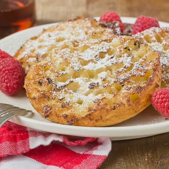 English muffin french toast.....omg that sounds great.