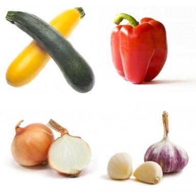 Roasted Vegetable Dip Recipe - veggies roast together for 15-20 min ...