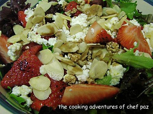 Strawberry Goat Cheese Arugula Salad   Yummies   Pinterest