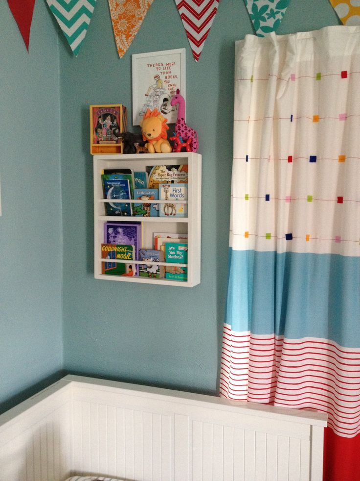 Brilliant book shelf for kids books built by my friends hubby!