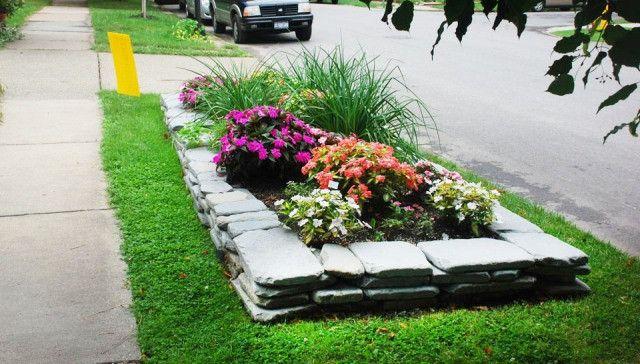 Curbside garden ideas para jardines pinterest for Curbside garden designs