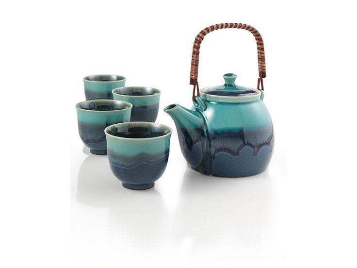 Teavana azure blue teapot set - Teavana teapot set ...