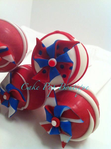Red, White and Blue Cake Pops | Cakes I'd like to Make. | Pinterest