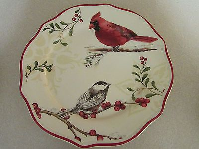Christmas Better Homes And Gardens Mistletoe Salad Plate Birds