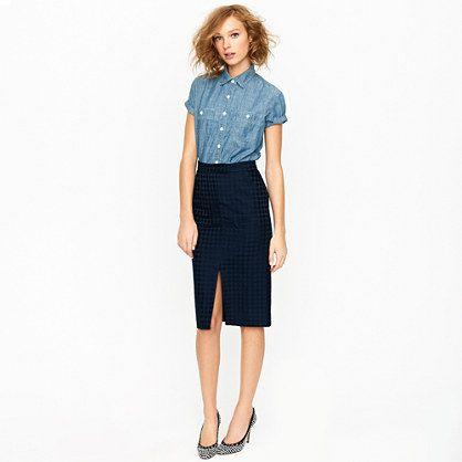 dot pencil skirt! cute
