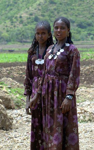 Africa | Two Oromo Girls, photographed on a road in Dessie, Ethiopia | © MAMA ETIOPIA :: MAMMA ETHIOPIA, via Flickr