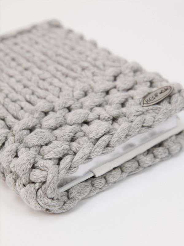 Chunky knitted notebook journal. Love this.
