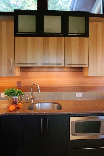 slate and cedar backsplash | Future Kitchen | Pinterest
