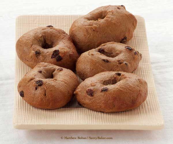Cinnamon Raisin Bagels - making dough in Breadmaker