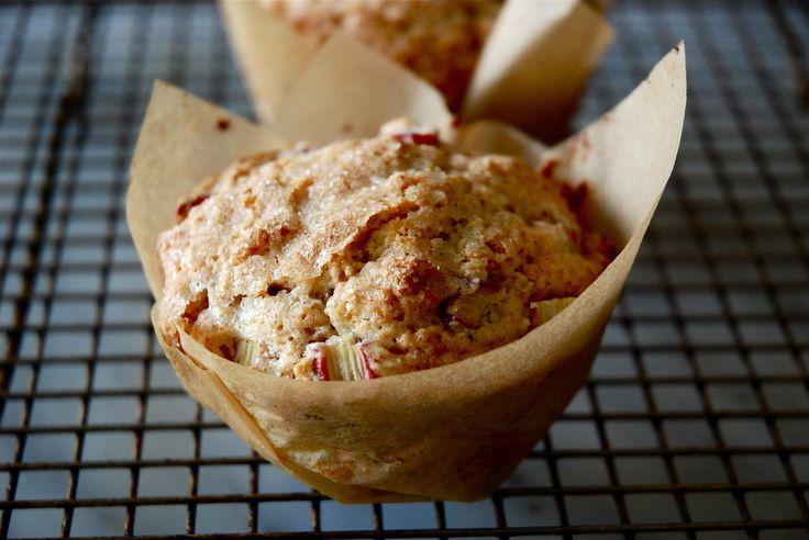 Rhubarb Cardamom Breakfast Muffins