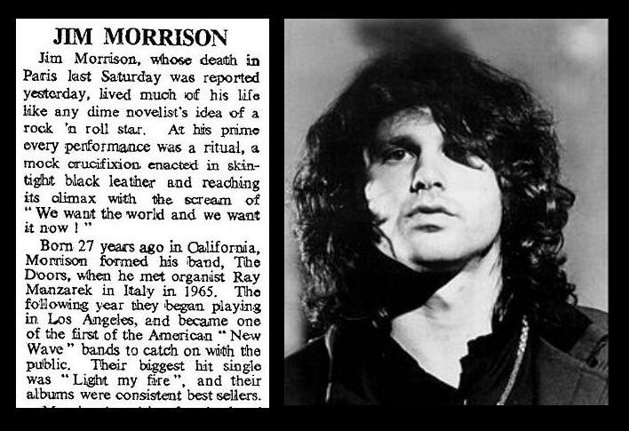 an introduction to the life and death of jim morrison Huey pierce long jr inside high fidelity an essay on the life and death of jim morrison.