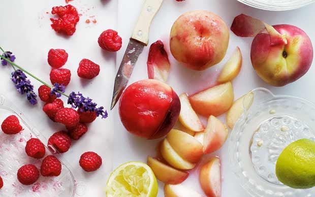 ... peach custard ice cream with fresh peach compote old fashioned peach