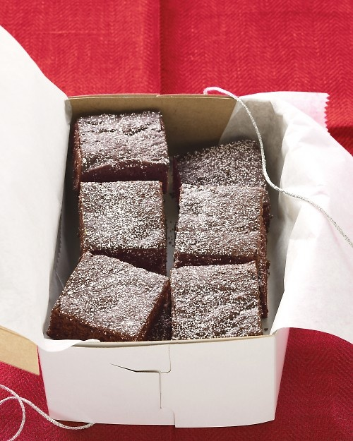 Chocolate Gingerbread Bars - Martha Stewart Recipes (reduce cooking ...