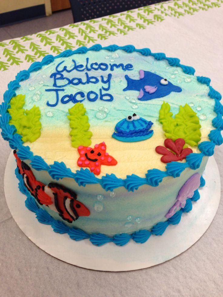finding nemo baby shower cake