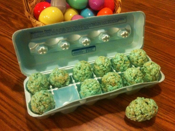 Rice Krispies #Easter egg treats.