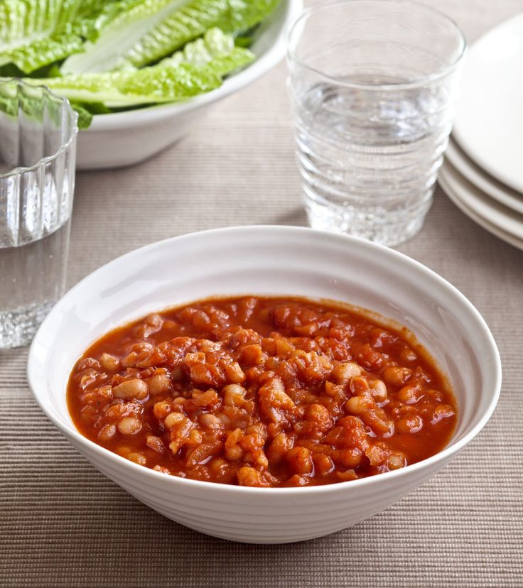 Healthy Stove-Top Baked Beans. I might try these and sub molasses or ...