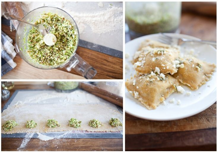 brussel sprout, fig and feta ravioli! my new favorite food blog.