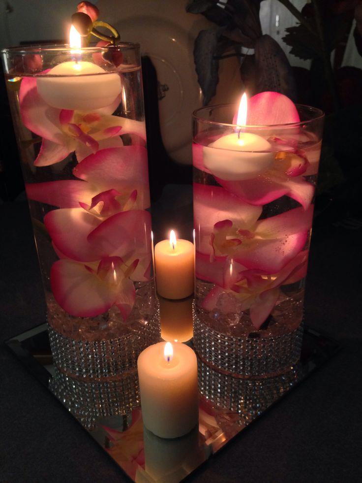 DIY Purple Orchid centerpiece