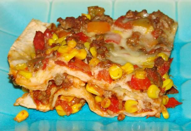 Layered Fiesta Casserole from Food.com: This sounds good--it's like a ...