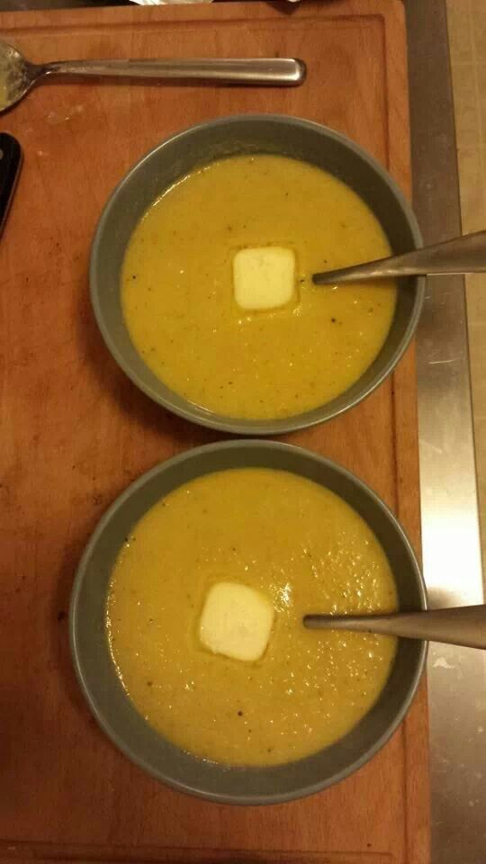 Leek, roasted garlic and golden beet soup!