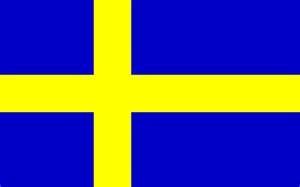 flag of sweden to color