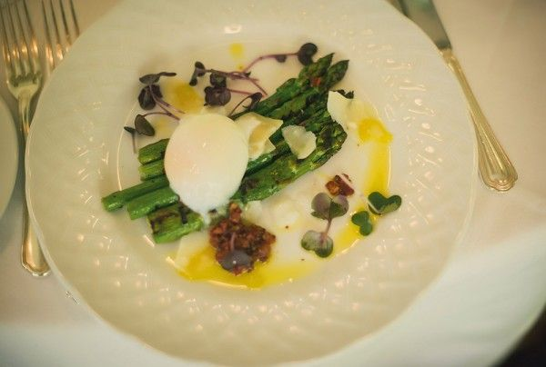 Grilled Asparagus with Soft Poached Egg, Parmesan and Bacon ...