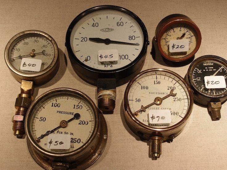 Steampunk decor pressure gauges steampunk pinterest - Steampunk pressure gauge ...