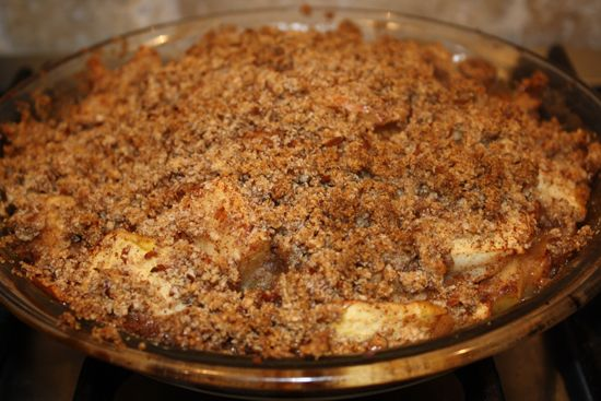 Apple Crisp with almond-flour streusel topping!!! Yes!!!