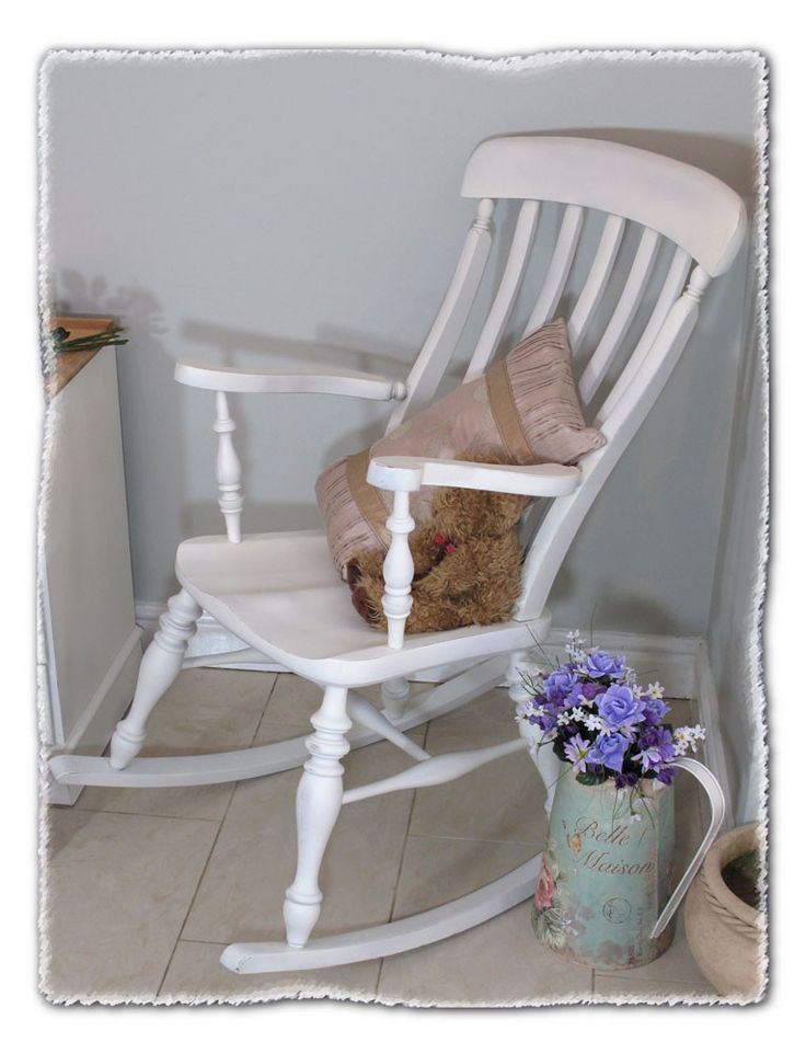 Shabby Chic Rocking Chair www.chicmouldings.com