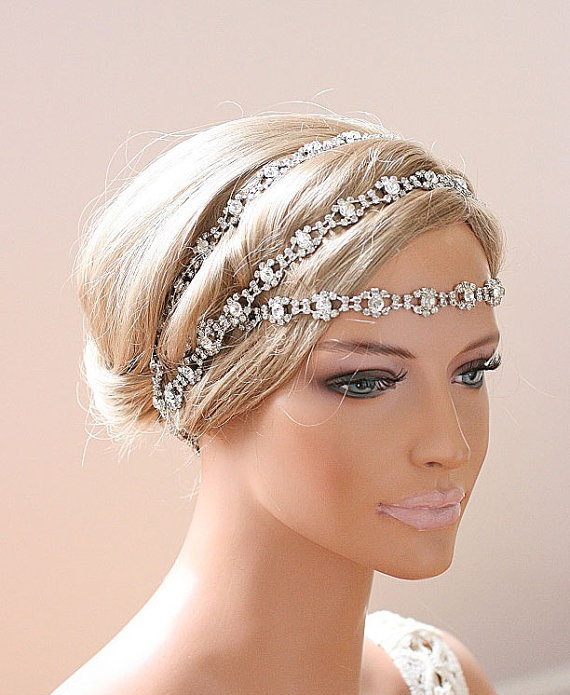 Wedding Hair With Rhinestone Headband : Discover and save creative ideas