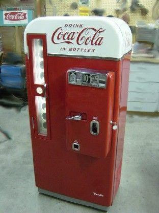 coca cola pop machine