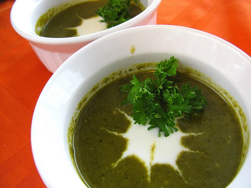 Creamy Swiss Chard Soup with Goat Cheese...aka what to do with all ...