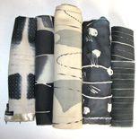 tessuti diversi per arredamento tinti dipinti e stampati a mano  Silvia Giorgietti