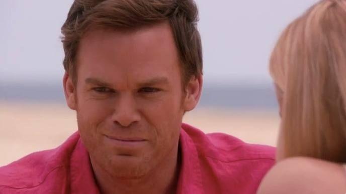 Dexter in hot pink