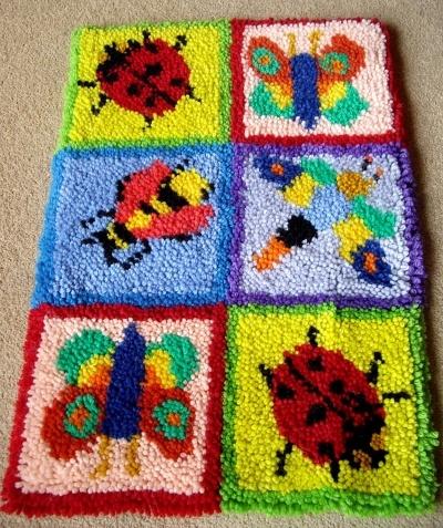 Bug rug making kit 45 x 66cm   latch hook rug kits   Pinterest
