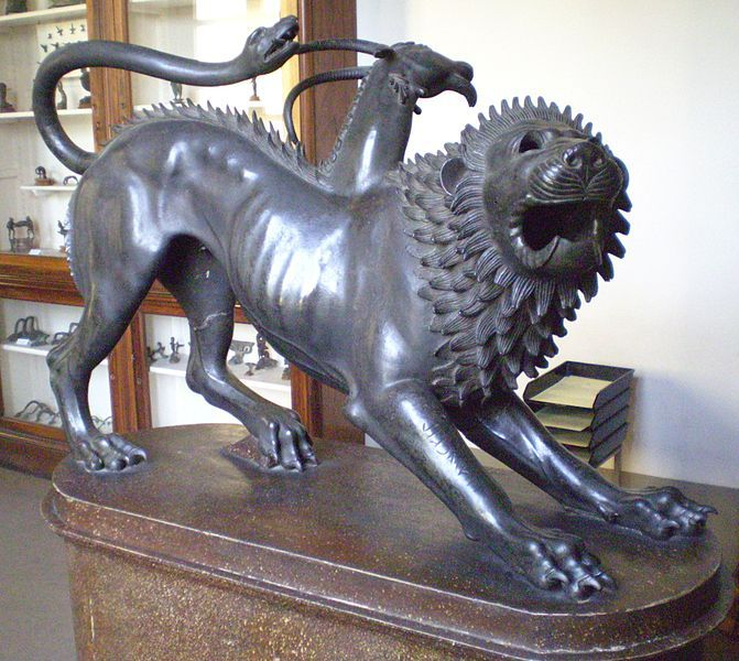 Chimera from Eutruscan bronze