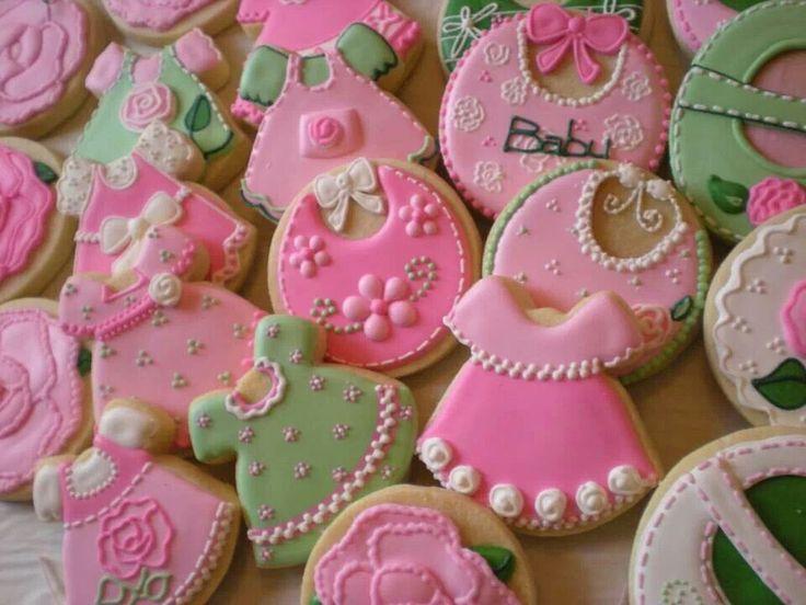 baby girl shower cookies gunner pinterest