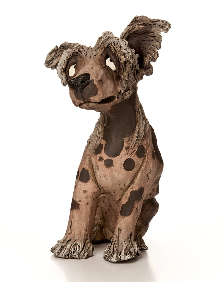 Chinese crested ceramic dog sculpture animals pinterest