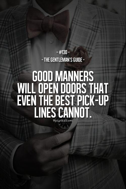 gentlemen manners