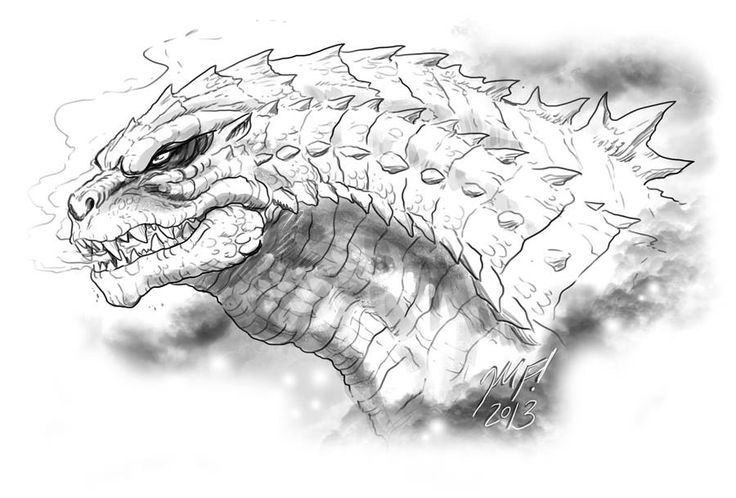 Matt Frank Godzilla 2014 Fan Art(Awesome)