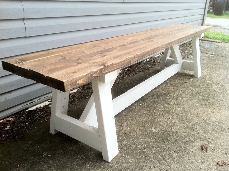 Farmhouse style Bench Revival Woodworks