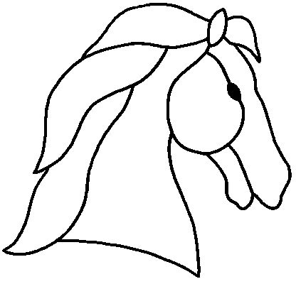 Horse head stained glass pattern sewing kids pinterest