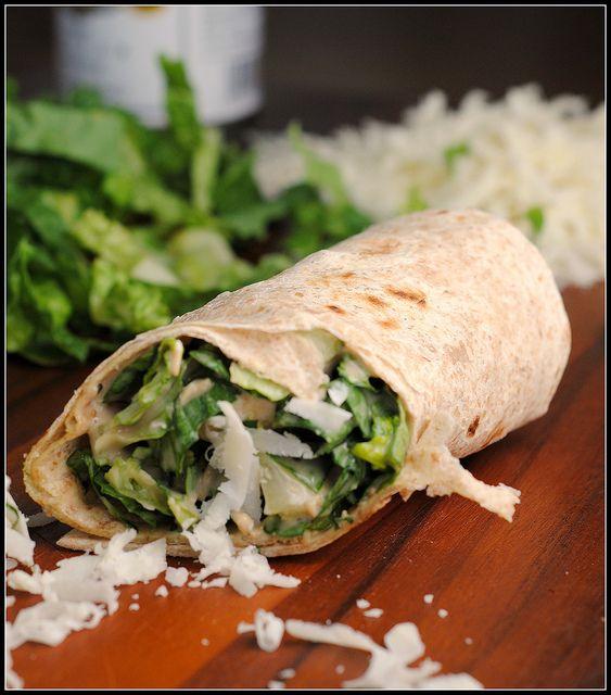 Chicken Caesar Wraps | Sandwich and Wrap Recipes | Pinterest