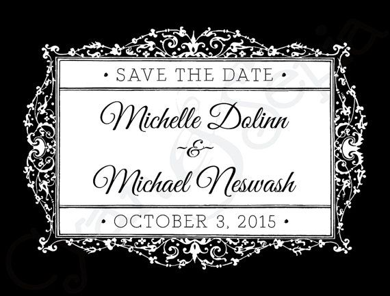 Wedding save the date in Hamilton