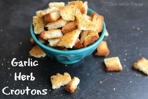 Homemade garlic & herb croutons | Recipes to Try | Pinterest