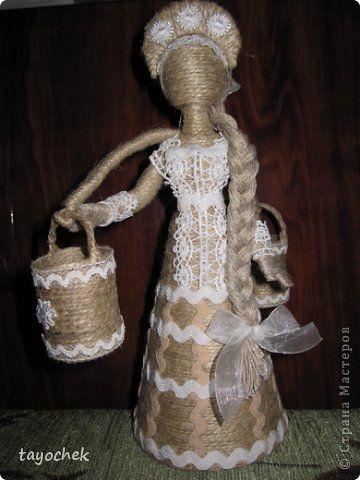 Поделки из джута куклы мастер класс 98