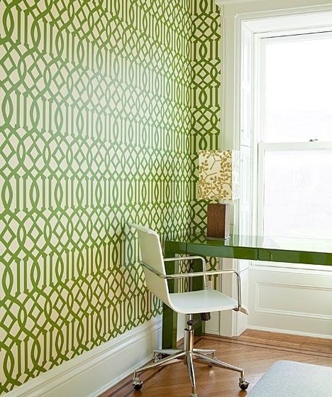 green trellis wallpaper schumacher - photo #7