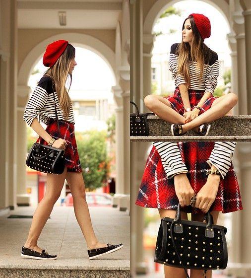 skirt with sleepers and hand bag
