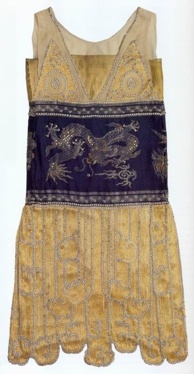 Gorgeous: Jeanne Paquin, Chimère, evening gown. Beaded silk, French, 1925.